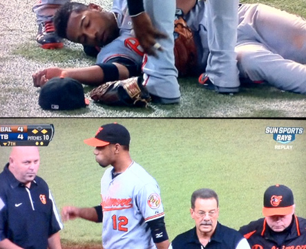 Orioles trainers & manager leave after failing to diagnose concussion on Alexi Casilla