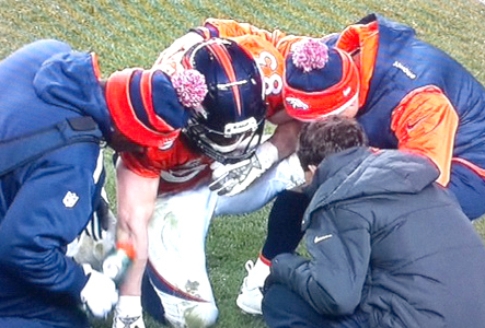 Wes Welker is examined for a neck injury (NBC Sports)