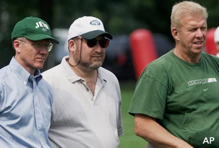 Woody Johnson, Elliot Pellman & Bill Parcells, 2000.